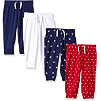 Amazon Essentials 4-Pack Pull-on Pant Casual, Blue/red/White, Premature