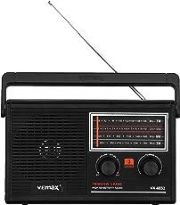 Vemax Opus 3-Band (FM/AM/MW) Portable Radio (Black)