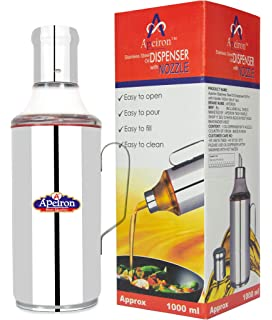 Apeiron 1000 ml Cooking Oil Dispenser  Pack of 1, Silver