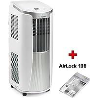 TROTEC Lokales mobiles Klimagerät Klimaanlage PAC 2010 E mit 2.1 kW / 7.200 Btu Inkl. Fensterabdichtung AirLock 100