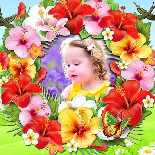 Blumen-Bilderrahmen (Gerber Foto)