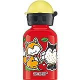 SIGG Forest Kids, Kinder Trinkflasche, 0.3 L, Auslaufsicher, BPA Frei, Aluminium, Red
