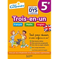 5e Spécial DYS (dyslexie) et difficultés d'apprentissage : Français - Maths - Anglais