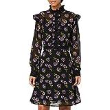 Marca Amazon - TRUTH & FABLE Vestido de Flores con Detalle de Encaje Mujer