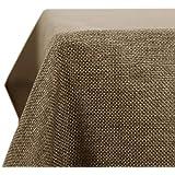 Deconovo Tovaglia Impermeabile Antimacchia Rettangolare in Tessuto Finto Lino per Cucina 150x240cm Taupe