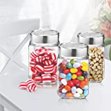 Treo By Milton Cube Storage Glass Jar, Set of 3, 310 ml