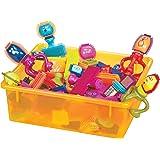 B Toys – Les Spinaroos Bristle Blocks – Blocs à picots souples – Jeux de construction créatifs – Pour enfants de 2 ans et plu