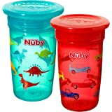 Nuby Sipeez 360 Degree Wonder Maxi Cups, Pack of 2, Assorted Designs