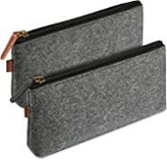 ProCase Felt Pencil Case, Multi-Functional Stationery Pouch Zipper Bag for Pens, Pencils, Gel Pens, Markers and other School