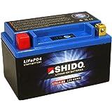 Batterie Shido Lithium LTX14-BS / YTX14-BS, 12V/12AH (Maße: 150x87x145) für Triumph Speed Triple R 1050 Baujahr 2014