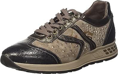 Nero Giardini A719471D Sneakers Donna in Pelle, Camoscio E Tela