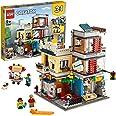 LEGO Creator NegoziodegliAnimali&Café 3 in 1, Set di Mattoncini Giocattolo con 3 Minifigure, Figure del Cane, del Tucano