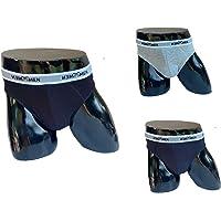 ITALIAN ENDURANCE Boxer e Slip da Uomo in Cotone Elasticizzato di Alta qualità,Confezione da 3 Pezzi,Nero Blu Grigio.