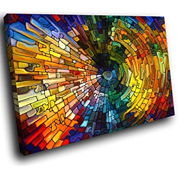 Ab757c Framed Canvas Print Colourful Wall Art Colourful