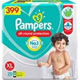 Pampers All round Protection Pants, Extra Large size baby diapers (XL) 20 Count, Lotion with Aloe Vera