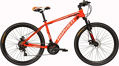 Hercules Roadeo Hank 24T 21 Gear Steel Hybrid Cycle (Neon Orange) 13.5inch Frame