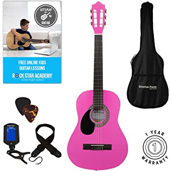 Left Hand Acoustic Guitar Package 3 4 Sized 36 Inch Classical
