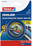 Tesa 56163-00002-00 Isoler Electricité / 6000 Volts PVC Souple Isolant 10 m x 15 mm Bleu