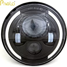 Pivalo 7-inch 75W Round LED with High Low Beam Conversion Kit DRL Light DOT Headlight for Jeep Wrangler JK LJ TJ - Pack of 1