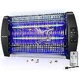 Balippe Lampe Anti-Moustique, 20W Piège à Insectes Volants avec Télecommand et Minuterie, Anti Moustique Non-Toxique, LED UV