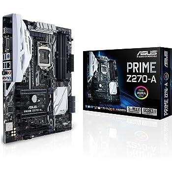 Asus Prime Z270-A Gaming Mainboard Sockel 1151 (ATX, Intel Z270, Kabylake, 4x DDR4-Speicher, USB 3.1, M.2 Schnittstelle)