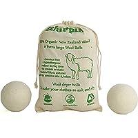 Lot de 6 balles de séchage en laine naturelle - Adoucissant réduisant les rides et réutilisables - Taille XL