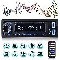 Autoradio Bluetooth Main Libre, 2 Ports USB Poste Stéréo Radio, 1 Din Radio Voiture, Soutien FM/USB/SD/AUX/EQ / MP3…