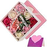 Wisolt Rosas de Jabon, Flores de Jabon Perfumado Rosas de Jabon para Decorar, Regalo para Aniversario Cumpleaños Boda Día de