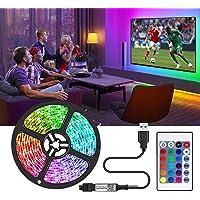 Striscia LED TV 2M, 5050 RGB Led Lights IP20 non impermeabile cambia colore con 20 colori 8 luci, strisce LED con 44…