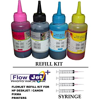 Ink shop india refill ink bottles kit with tools for hp canon flowjet photo quality refill ink bottle kit with 4 syringe and needles for refilling hp 21 22 802 803 680 678 46 704 703 900 inkjet printer cartridge fandeluxe Images