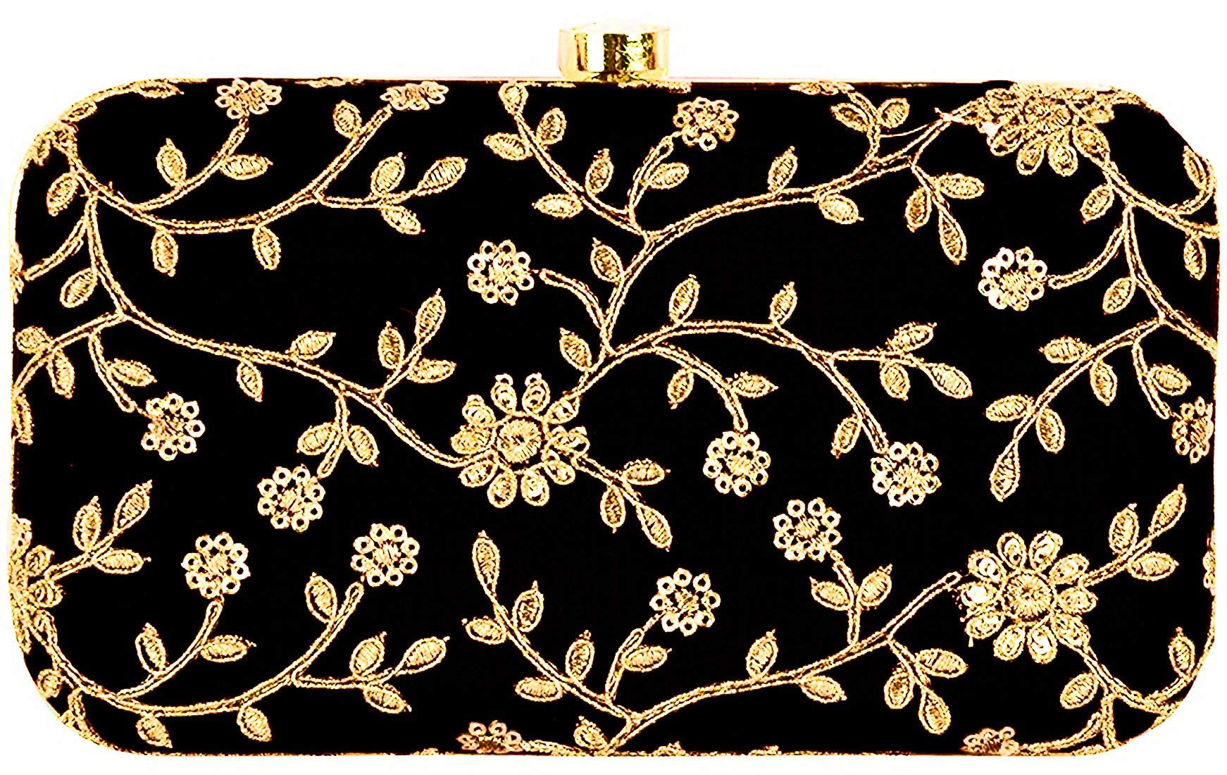 HomeProductWomen s FashionTooba Handicraft Party Wear Hand Embroidered Box  Clutch Bag Purse For Bridal aa0e87ccd1f6f