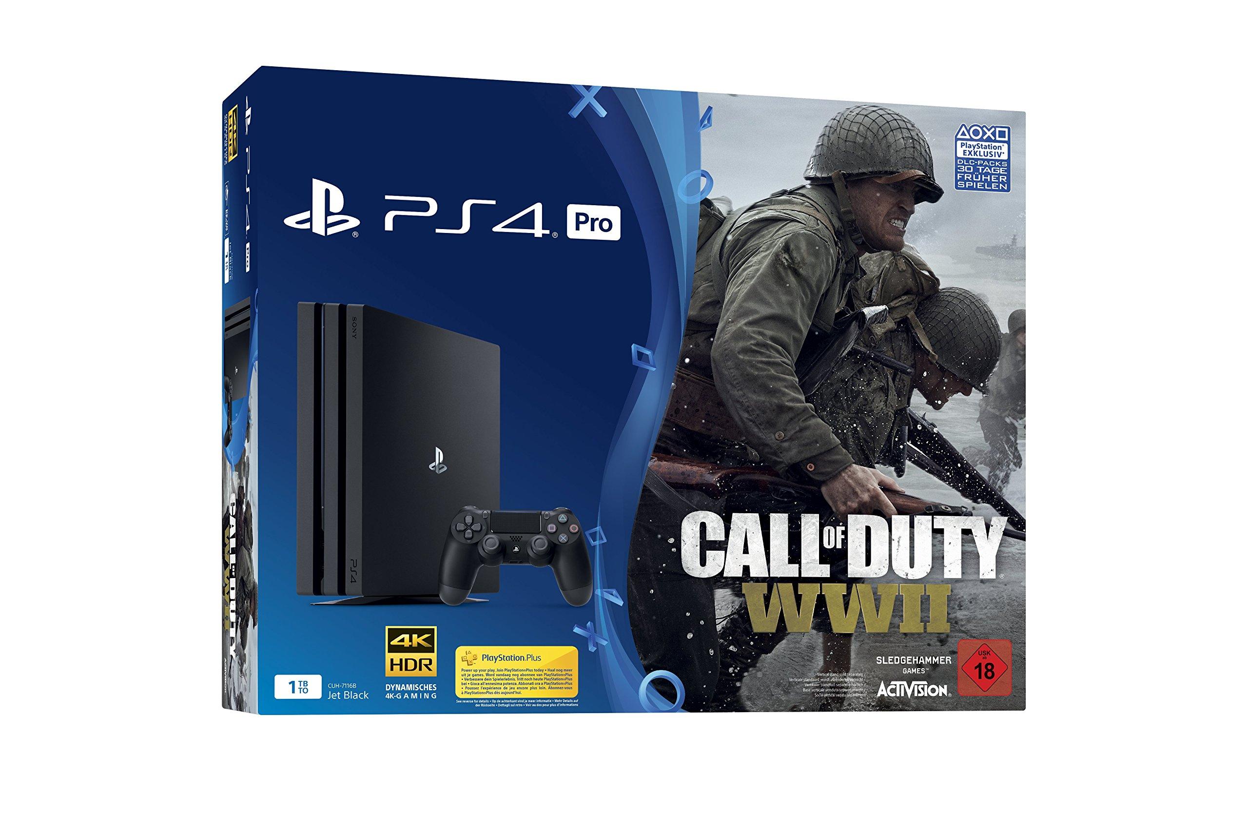 PlayStation 4 Pro - Konsole (1TB) inkl. Call of Duty: WWII [Edizione: Germania]