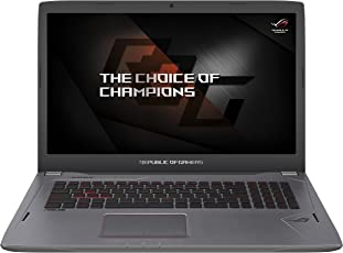 Asus ROG GL702VM-BA323T 43,94 cm (17,3 Zoll mattes FHD) Gaming-Laptop (Intel Core i7-7700HQ, 16GB RAM, 256GB SSD, 1TB HDD, NVIDIA GeForce GTX 1060, Win 10 Home) titaniumgold