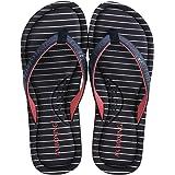 AXBOXING Chanclas Mujer Flip Flop Sommer Rayas de Moda Sandalias Verano Suave Playa Vacaciones Antideslizantes Tamaño 36-41