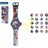 LEXIBOOK- Disney Frozen 2 Reloj Correa Ajustable Pantalla Digital con 20 proyecciones de Elsa, Anna y Olaf Niñas-Azul y Morad