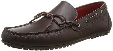 Hackett London Moccasins Bow Leather Mocassin pour homme, marron, 40
