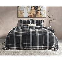 SLEEP TIME Housse de Couette Flanelle, 100% Coton, Hiver Chaude Duveteuse Parure de lit, Brun, Bruce, Célibataire, 140cm…