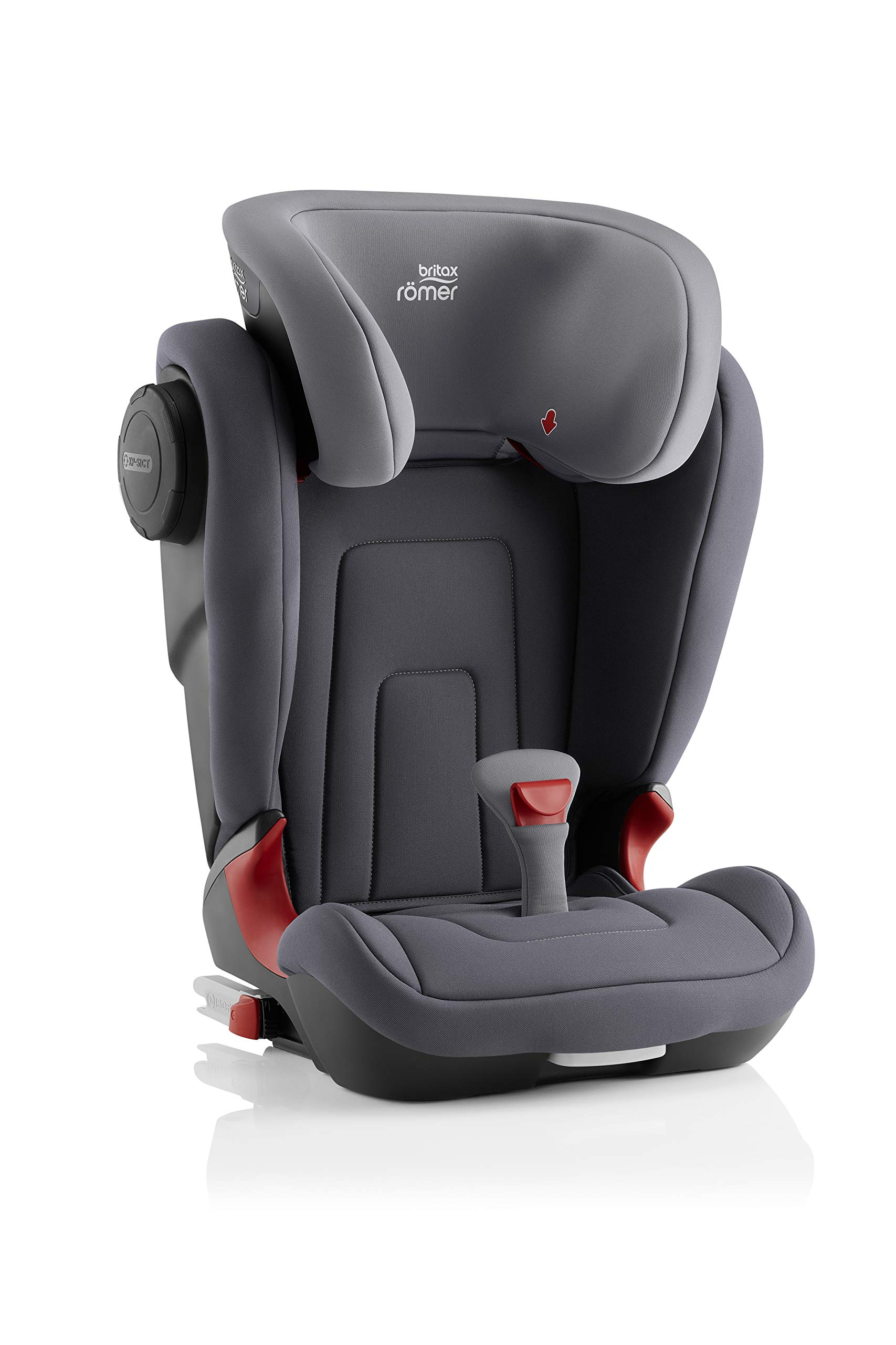 Britax Römer KIDFIX² S Group 2-3 (15-36kg) Car Seat - Storm Grey  Advanced side impact protection - sict offers superior protection to your child in the event of a side collision. reducing impact forces by minimising the distance between the car and the car seat. Secure guard - helps to protect your child's delicate abdominal area by adding an extra - a 4th - contact point to the 3-point seat belt. High back booster - protects your child in 3 ways: provides head to hip protection; belt guides provide correct positioning of the seat belt and the padded headrest provides safety and comfort. 3