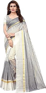 GoSriKi Georgette Saree with Blouse Piece