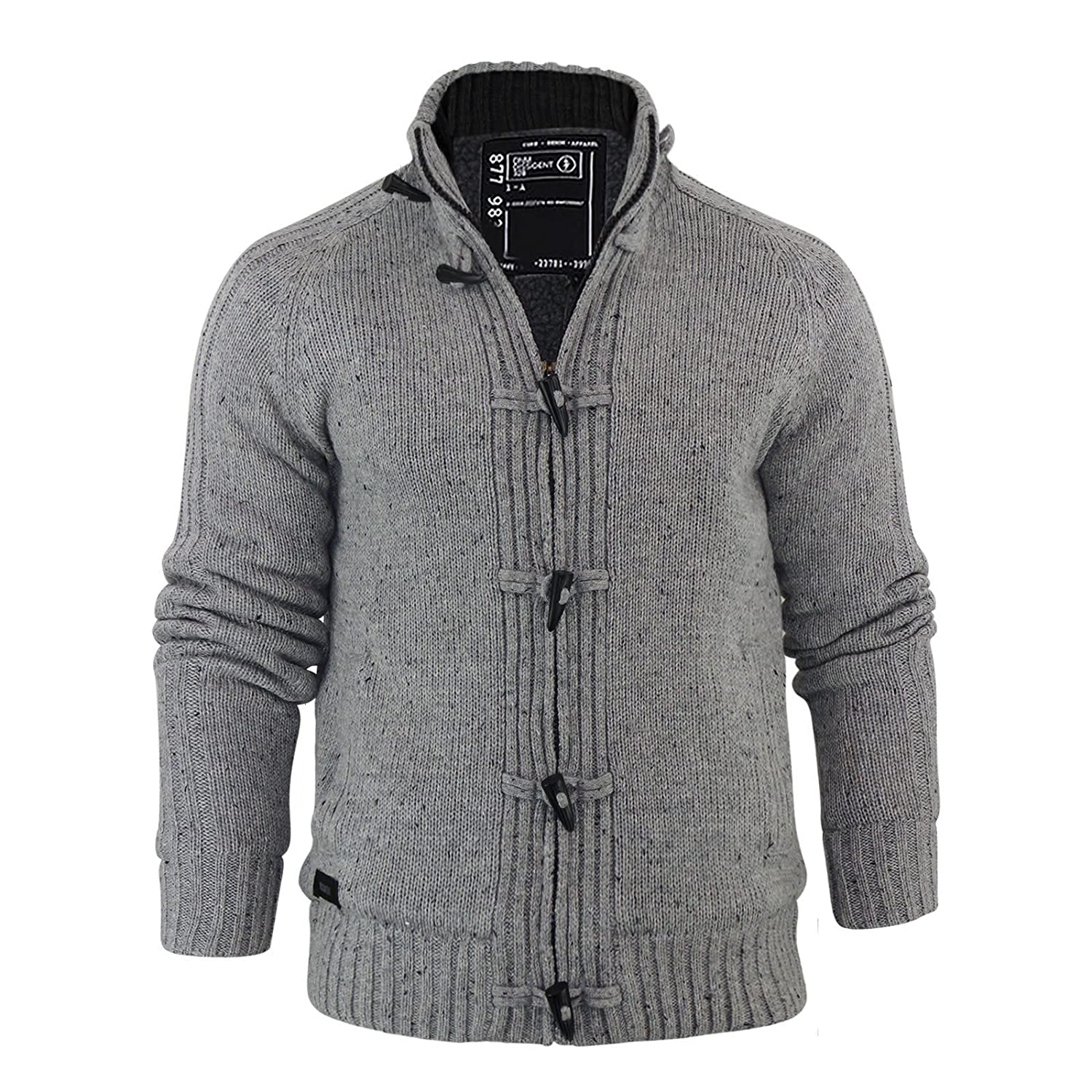 Dissident Mens Lothian Jumper - Light Grey - Small: Amazon.co.uk ...