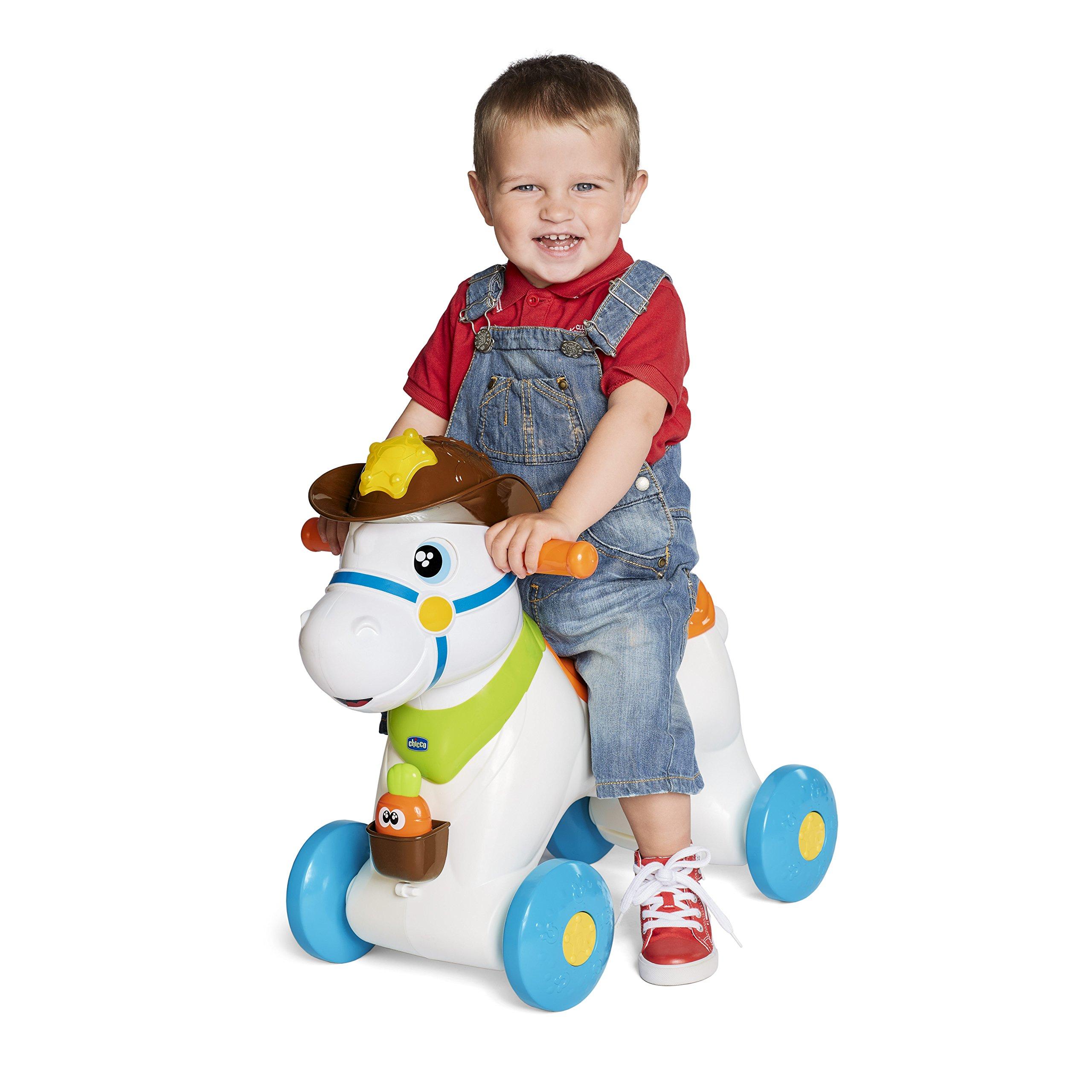 Chicco Cavallo Dondolo.Chicco Rodeo Cavallo A Dondolo Gioco Interattivo Cavalcabile Adatto Da 1 Anno 30 X 58 X 64 Cm