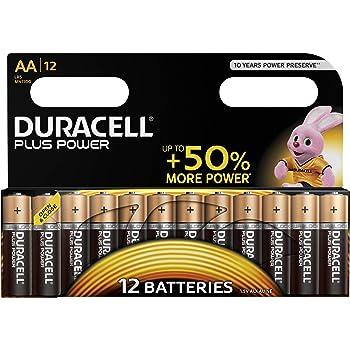 Duracell Plus Power Batterie Alcaline, Stilo AA, Confezione da 12