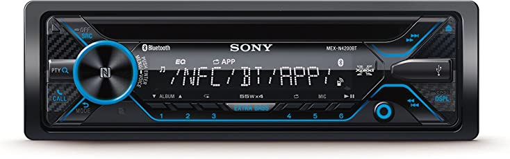 Sony MEXN4200BT Autoradio mit Dual Bluetooth (CD-Player, NFC, 2X Bluetooth, USB/Aux, Apple iPod/iPhone Control, 4X 55 Watt)