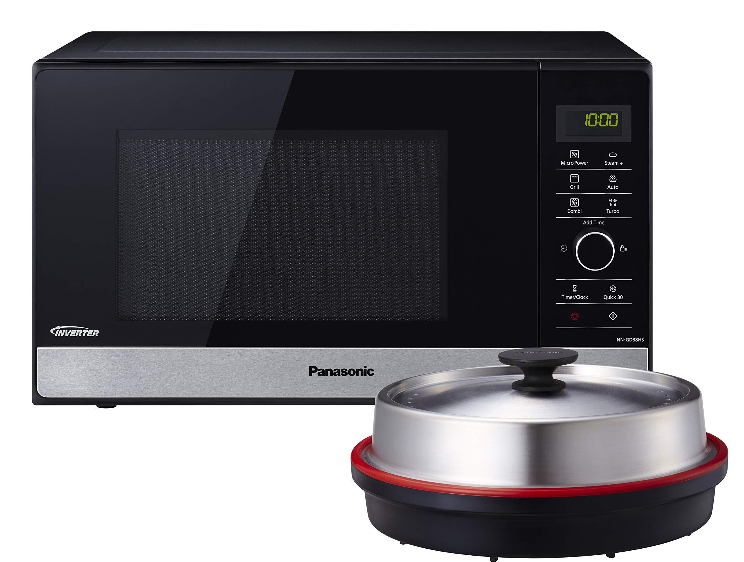 Panasonic NN-GD38HSGTG Mikrowellen-Grill mit Dampfgarer, Steamer, 23 Liter, edelstahl-schwarz