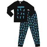 The Pyjama Factory - Pijama largo de algodón con texto «Legend» y estampado de bailes de celebración de videojuegos, color ne