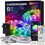 LED Strip 21.5m, APP Steuerung LED Streifen Leiste mit Fernbedienung Netzteil, RGB Led Band Lichter Lichtband für Schlafzimme