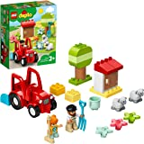 LEGO 10950 Duplo Town Le Tracteur et Les Animaux Ferme Jouet pour Les Enfants de 2 Ans et Plus, avec Figurines Moutons et Fer
