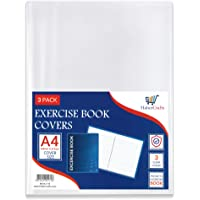 A4 Book Cover Plastic Exercise Book Covers Clear School Notebook Protector Cover Film Transparent Jacket Protective…