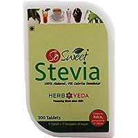So Sweet Stevia Tablets Sugar Free Natural Zero Calorie Sweetener 100 Tablets