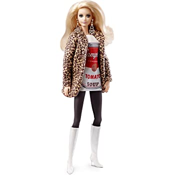 919b18e960 Barbie A Collector Andy Warhol 2 Campell s Soup Can Doll  Amazon.co ...